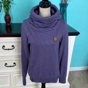 💖 Naketano Purple Funnel Neck Sweatshirt Pullover